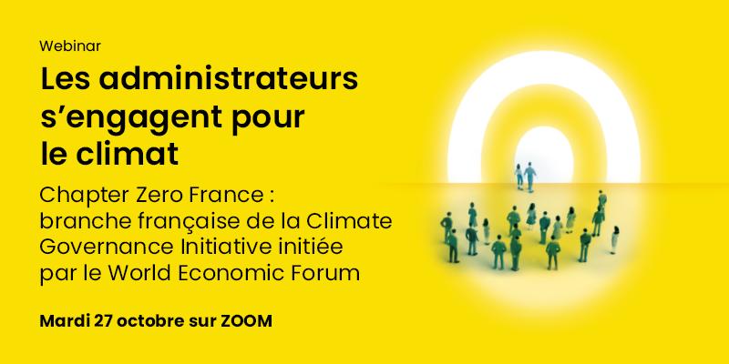 Webinaire de Chapter Zero France autour du Climate Finance Day le 27 octobre